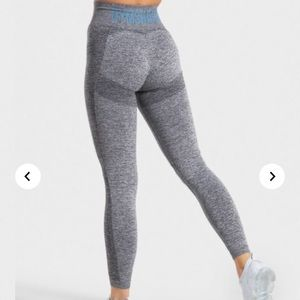 Gymshark Flex High Waisted Leggings Charcoal/Teal